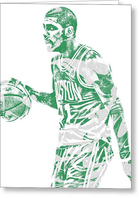 Kyrie Irving Boston Celtics Pixel Art 40 Greeting Card