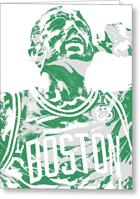 Kyrie Irving Boston Celtics Pixel Art 41 Greeting Card