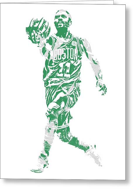 Kyrie Irving Boston Celtics Pixel Art 43 Greeting Card
