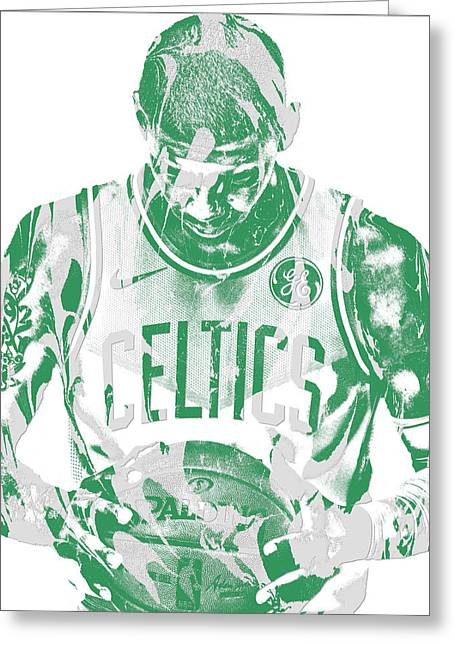 Kyrie Irving Boston Celtics Pixel Art 5 Greeting Card