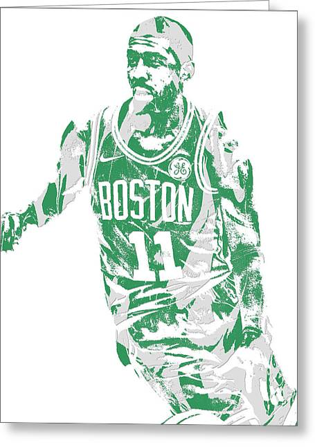 Kyrie Irving Boston Celtics Pixel Art 6 Greeting Card