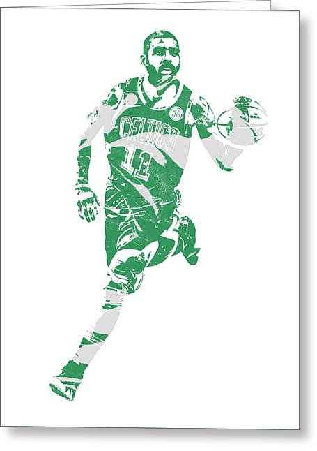 Kyrie Irving Boston Celtics Pixel Art 60 Greeting Card