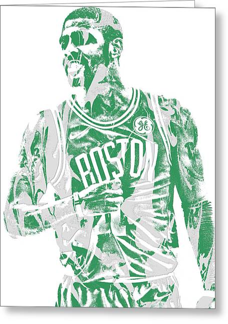 Kyrie Irving Boston Celtics Pixel Art 7 Greeting Card