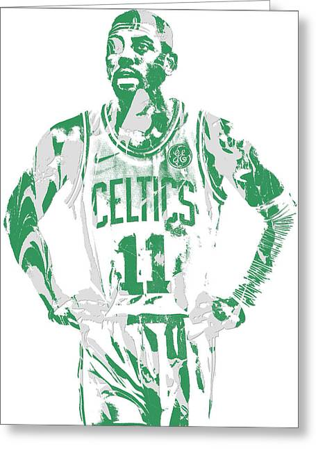 Kyrie Irving Boston Celtics Pixel Art 8 Greeting Card