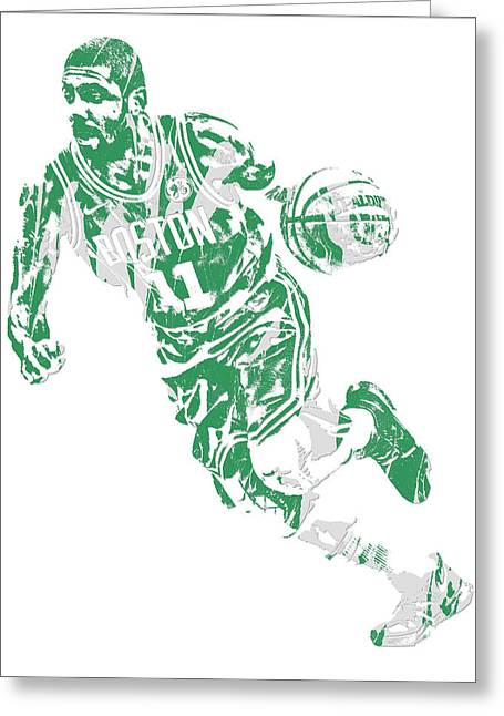Kyrie Irving Boston Celtics Pixel Art 9 Greeting Card