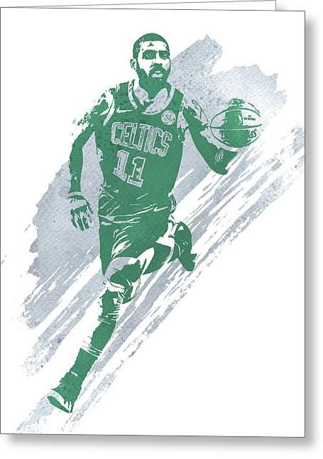 Kyrie Irving Boston Celtics Water Color Art 4 Greeting Card