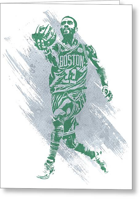 Kyrie Irving Boston Celtics Water Color Art Greeting Card