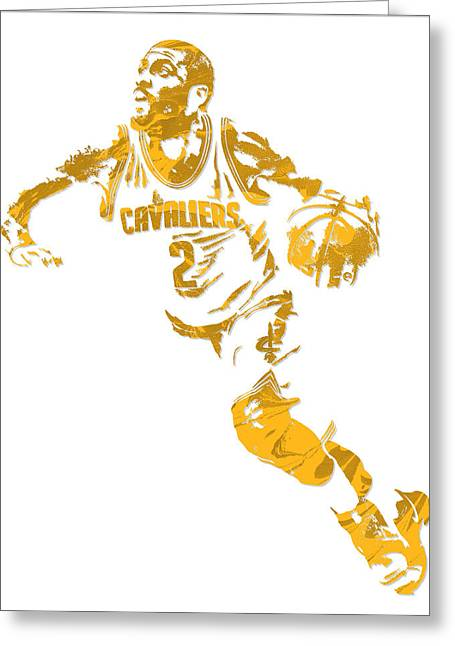 Kyrie Irving Cleveland Cavaliers Pixel Art 11 Greeting Card