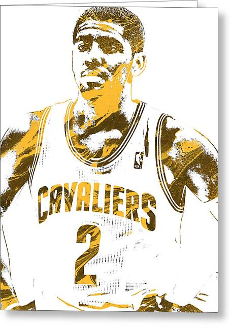 Kyrie Irving Cleveland Cavaliers Pixel Art 3 Greeting Card