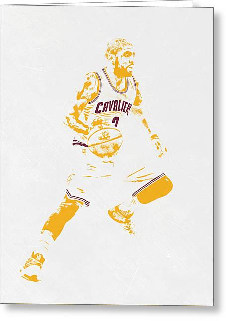 Kyrie Irving Cleveland Cavaliers Pixel Art Greeting Card by Joe Hamilton