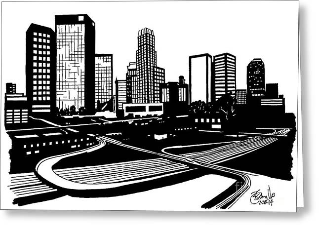 L. A. Greeting Card by Andrew Cravello