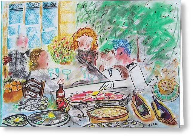 L A Buena Vida Greeting Card by Geraldine Liquidano