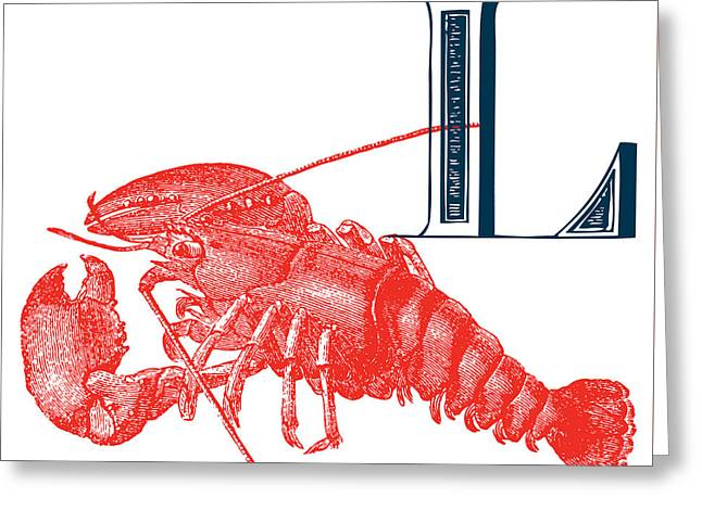 L Lobster Greeting Card by Thomas Paul