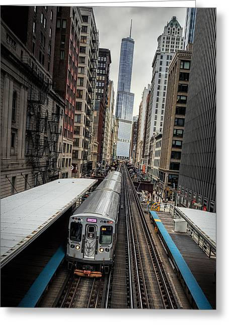 L Train Station In Chicago Greeting Card by James Udall