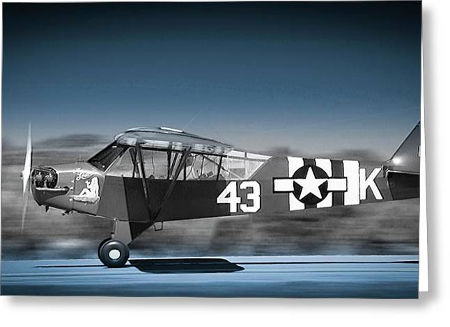 L4 Grasshopper On The Take-off Roll Greeting Card by Phil Rispin
