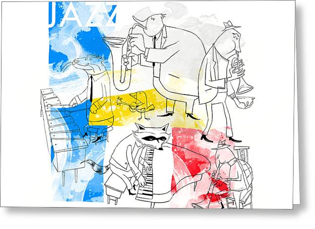 La Bande Du Jazz Greeting Card