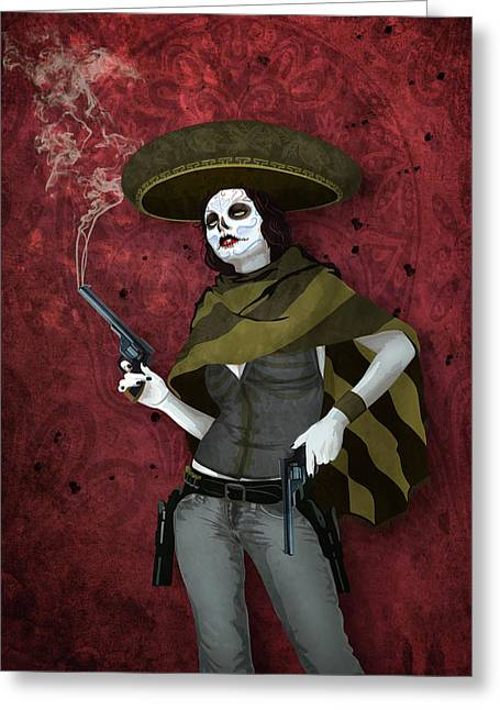 La Bandida Muerta Greeting Card