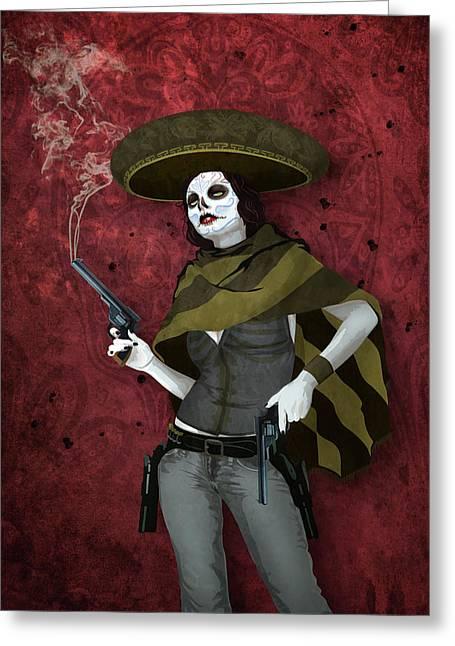 La Bandida Muerta Greeting Card