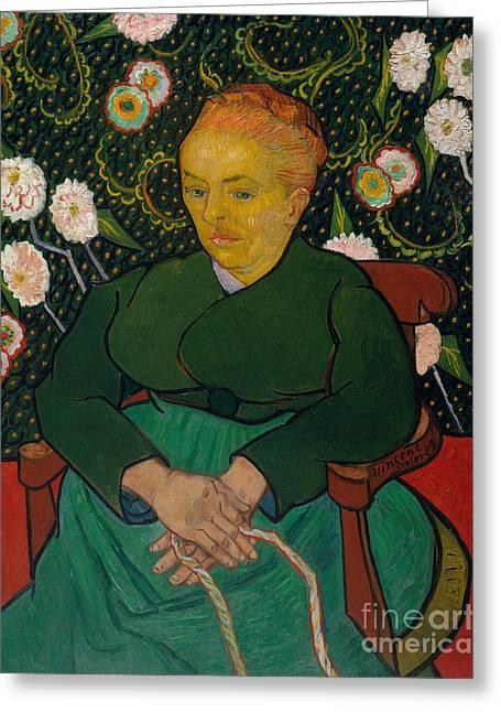 La Berceuse, 1889  Greeting Card by Vincent Van Gogh