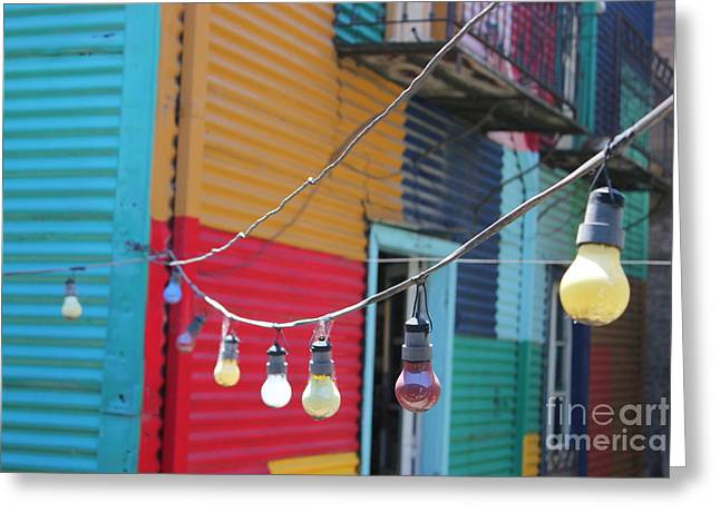 La Boca Lightbulbs Greeting Card