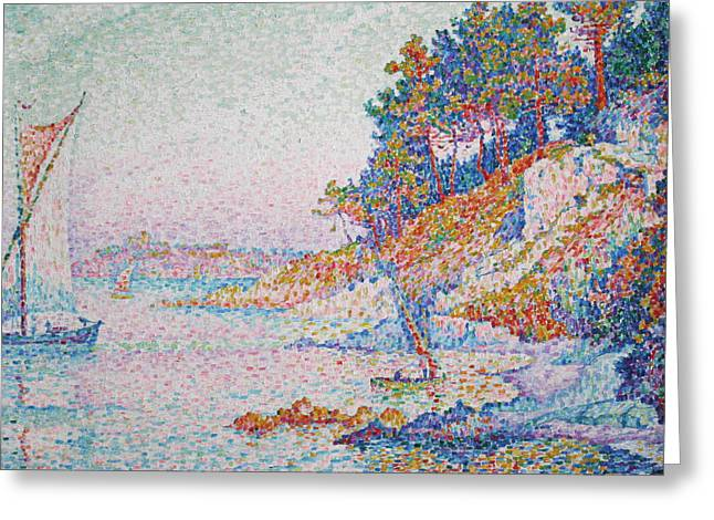 La Calanque Greeting Card by Paul Signac
