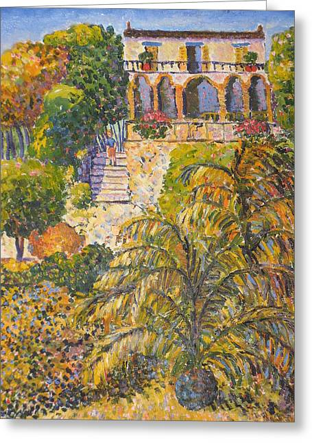 Haut Paintings Greeting Cards - La casa du port Greeting Card by Marc Loy