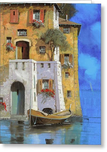 La Casa Sull'acqua Greeting Card by Guido Borelli