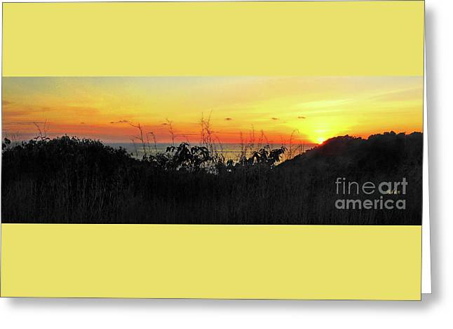 la Casita Playa Hermosa Puntarenas Costa Rica - Sunset A Panorama Greeting Card by Felipe Adan Lerma