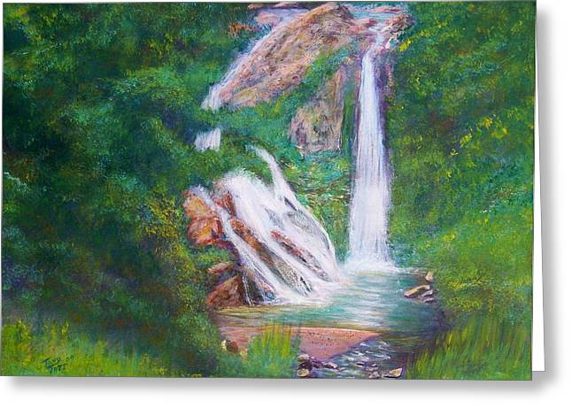 La Ceiba Waterfall Greeting Card