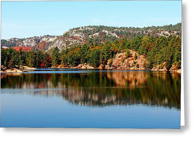 Greeting Card featuring the photograph La Cloche Mountain Range by Debbie Oppermann