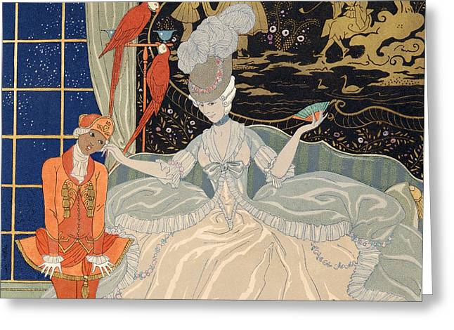 La Comtesse From Personages De Comedie Greeting Card by Georges Barbier