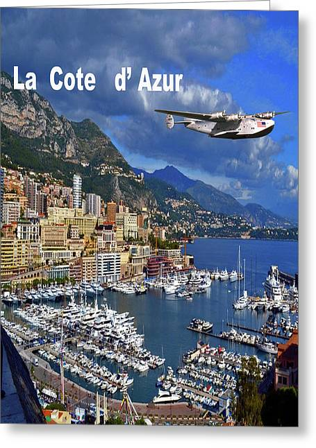 La Cote D' Azur , Boeing 314 Clipper Greeting Card