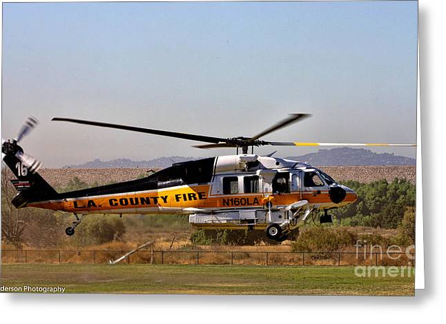 La County Fire Air Support Greeting Card