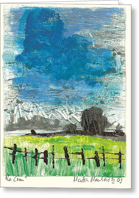 Greeting Card featuring the painting La Crau by Martin Stankewitz