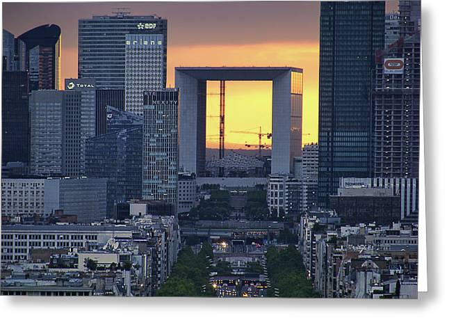 La Defense - La Grande Arche - Paris Greeting Card by Nikolyn McDonald