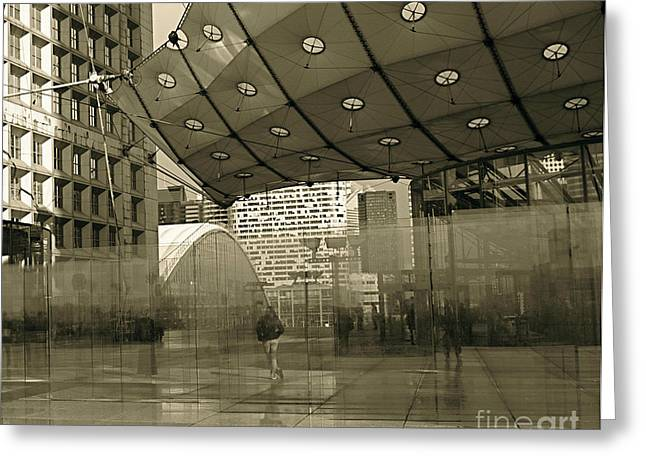 La Defense Greeting Card by Louise Fahy