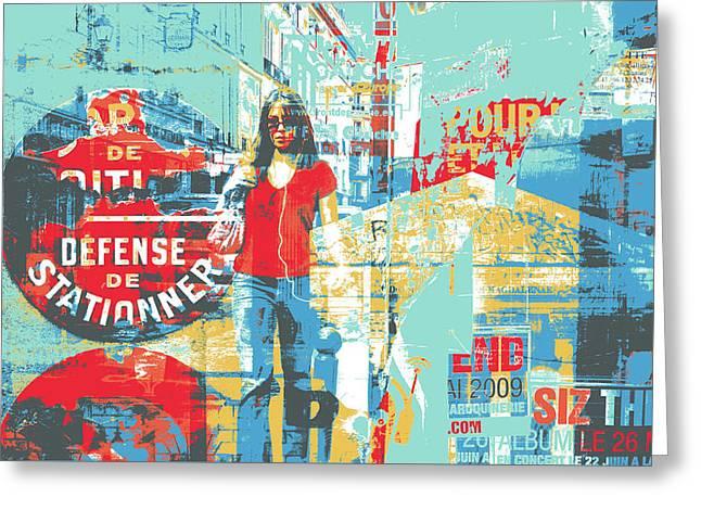 La Defense Greeting Card by Shay Culligan