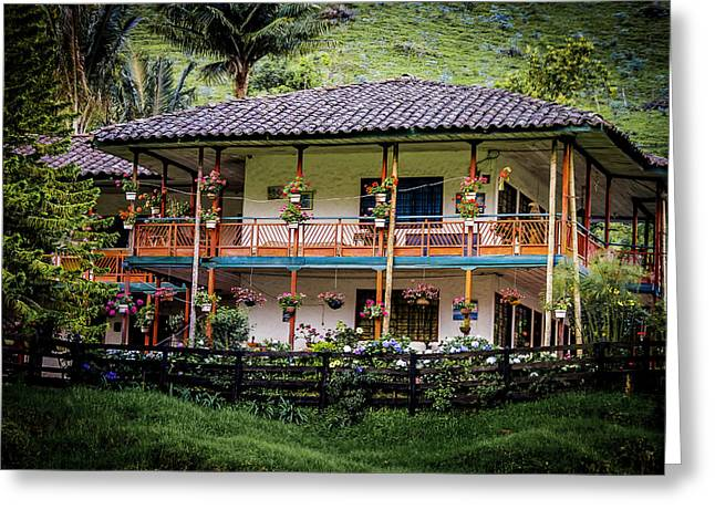 La Finca De Cafe - The Coffee Farm Greeting Card