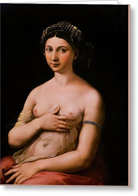 La Fornarina - Raphael Greeting Card