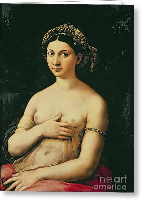La Fornarina Greeting Card by Raphael