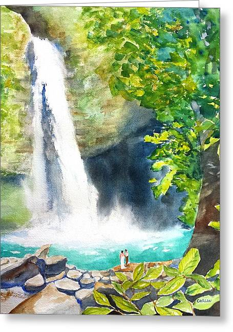 La Fortuna Waterfall Greeting Card