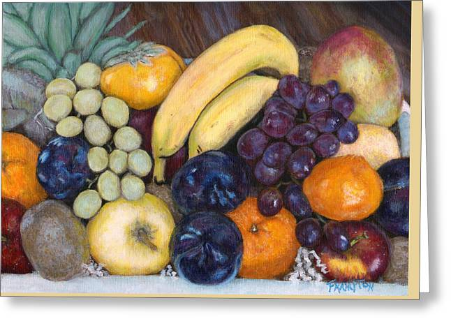 La Frutta In Cucina Greeting Card by Jennifer Frampton