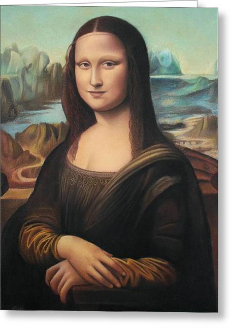 La Gioconda - Pastel  Greeting Card