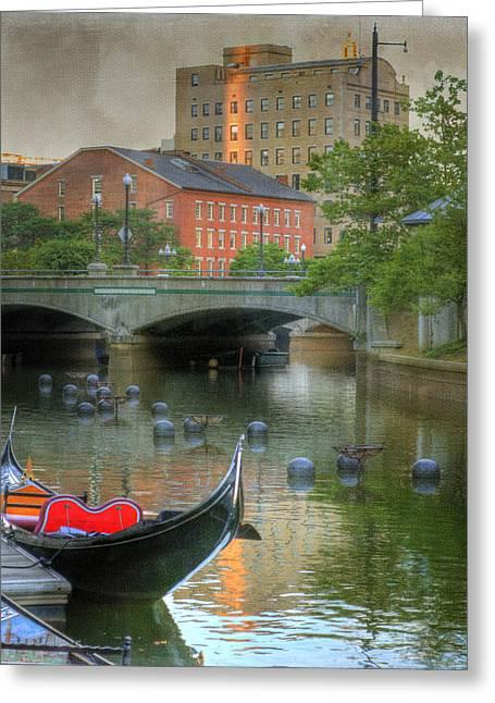 La Downtown Greeting Cards - La Gondola. Providence Greeting Card by Juli Scalzi