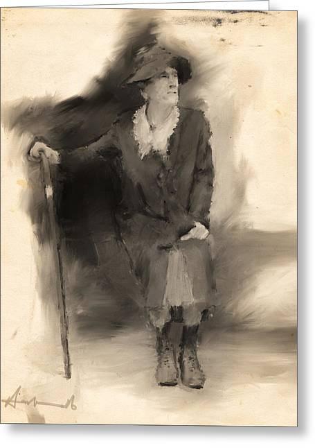 La Grande Dame Greeting Card by H James Hoff