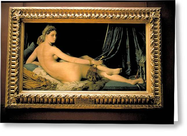 La Grande Odalisque By Ingres Greeting Card by Carl Purcell
