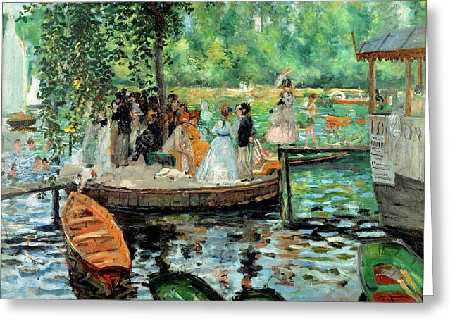 La Grenouillere By Auguste Renoir 1869 Greeting Card by Movie Poster Prints
