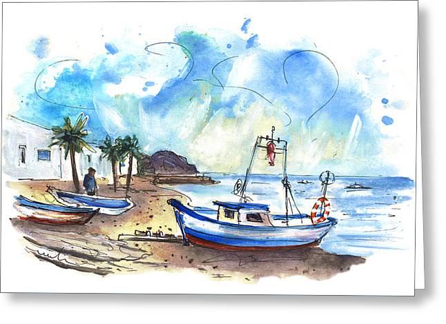 La Isleta Del Moro 01 Greeting Card by Miki De Goodaboom