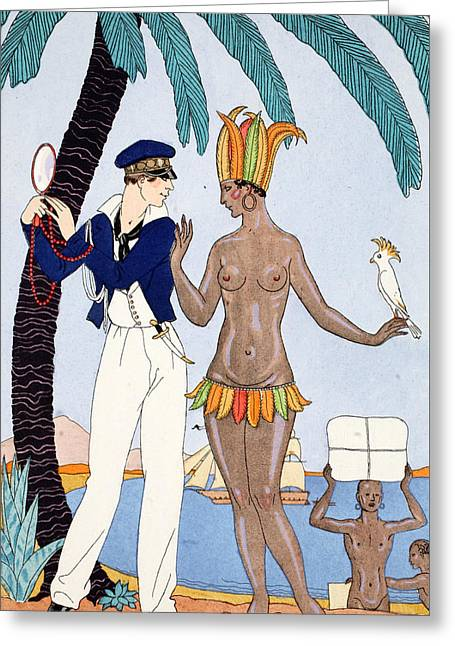 La Jolie Insulaire Greeting Card by Georges Barbier