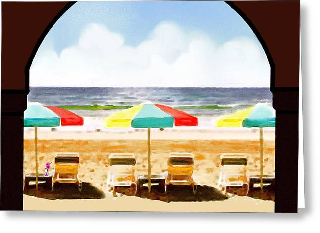 La Jolla Beach Club 1 Greeting Card